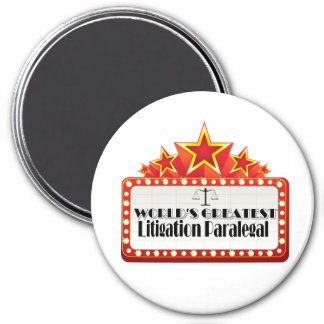 World's Greatest Litigation Paralegal 7.5 Cm Round Magnet