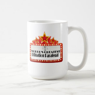 World's Greatest Litigation Paralegal Basic White Mug