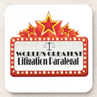 World's Greatest Litigation Paralegal Coaster