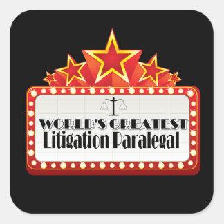 World's Greatest Litigation Paralegal Sticker