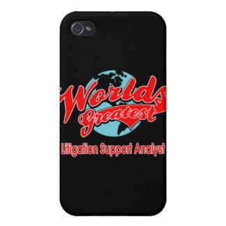 World's Greatest Litigation Support Analyst iPhone 4 Case