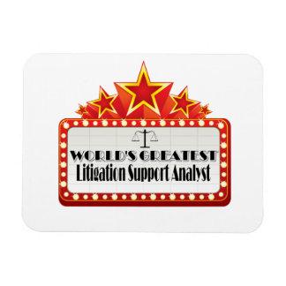 World's Greatest Litigation Support Analyst Rectangular Photo Magnet