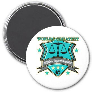 World's Greatest Litigation Support Specialist 7.5 Cm Round Magnet