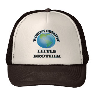 World's Greatest little Brother Mesh Hats