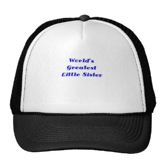 Worlds Greatest Little Sister Hats