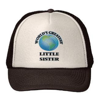 World's Greatest Little Sister Trucker Hats
