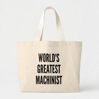 Worlds Greatest Machinist Jumbo Tote Bag