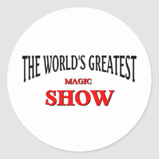 World's greatest magic show classic round sticker