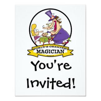 WORLDS GREATEST MAGICIAN II CARTOON CUSTOM INVITATIONS