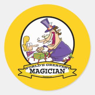 WORLDS GREATEST MAGICIAN II CARTOON STICKERS