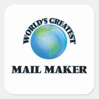 World's Greatest Mail Maker Square Sticker