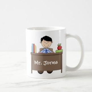 World's Greatest Male Teacher Basic White Mug