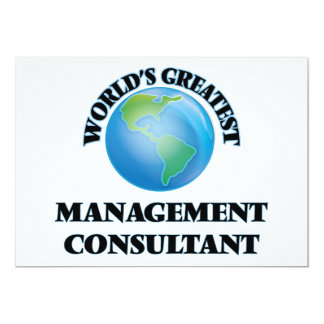 World's Greatest Management Consultant Personalized Invitations