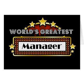 World's Greatest Manager Greeting Card
