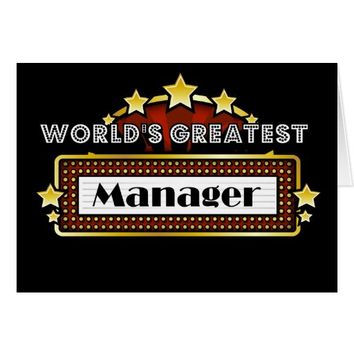 World's Greatest Manager Cards
