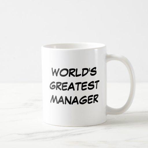 """""""World's Greatest Manager"""" Mug"""