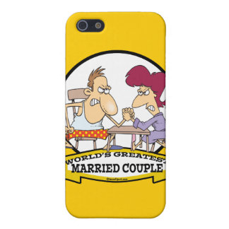 WORLDS GREATEST MARRIED COUPLE SARCASM CARTOON iPhone 5/5S COVER