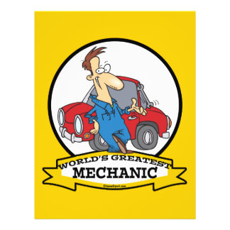 WORLDS GREATEST MECHANIC II CARTOON 21.5 CM X 28 CM FLYER