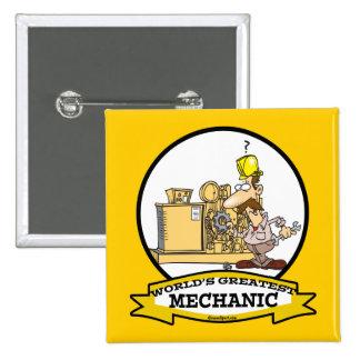 WORLDS GREATEST MECHANIC MEN CARTOON PINS