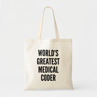 Worlds Greatest Medical Coder Budget Tote Bag