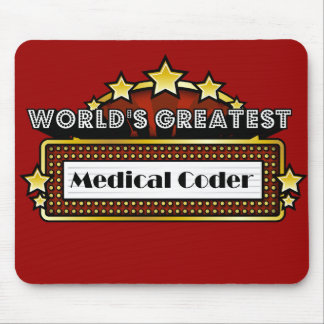 World's Greatest Medical Coder Mouse Pad