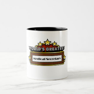 World's Greatest Medical Secretary Two-Tone Coffee Mug