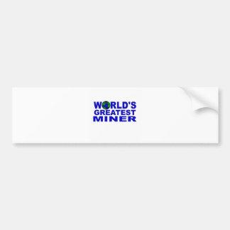 World's Greatest Miner Bumper Sticker