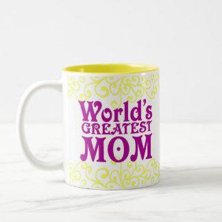 World's Greatest Mom and Teacher Two-Tone Coffee Mug