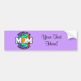 World's Greatest Mom; Archery Bumper Sticker