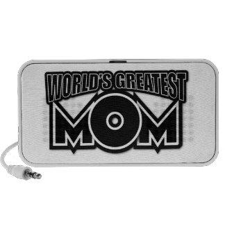 World's Greatest Mom (black & white) iPhone Speakers