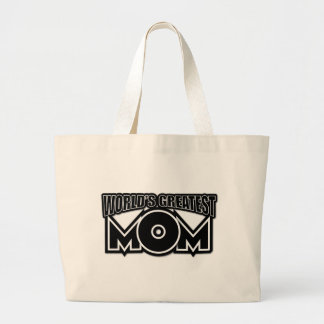 World's Greatest Mom (black & white) Canvas Bag
