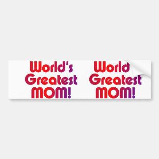 World's Greatest Mom Bumper Sticker