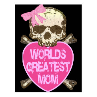 World's Greatest Mom Gothic Postcard