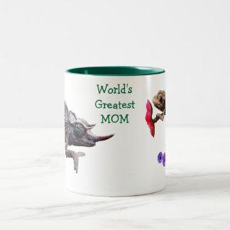World's Greatest Mom Grouchy Chameleon Mug