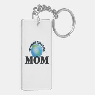 World's Greatest Mom Rectangular Acrylic Key Chains