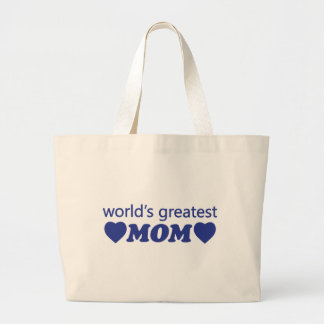 WORLDS GREATEST MOM LARGE TOTE BAG