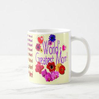 World's Greatest Mom! Basic White Mug