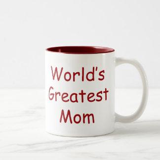 Worlds Greatest Mom Two-Tone Mug