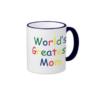 World's Greatest Mom Ringer Mug