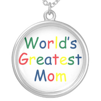 World's Greatest Mom Round Pendant Necklace