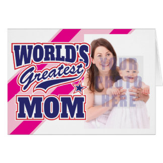 World's Greatest Mom Personalized Photo Card