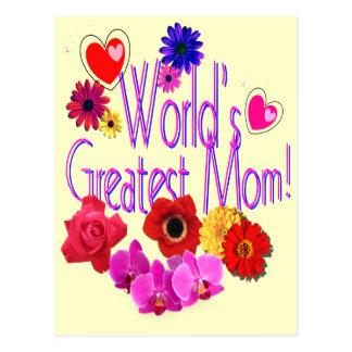 World's Greatest Mom! Postcard