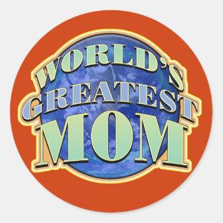 Worlds Greatest Mom Round Sticker