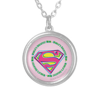 World's Greatest Mom Silver Plated Necklace