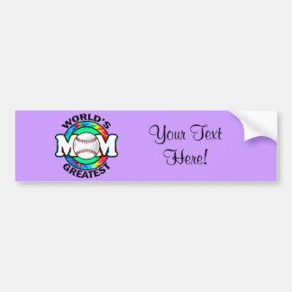 World's Greatest Mom; Softball Bumper Sticker