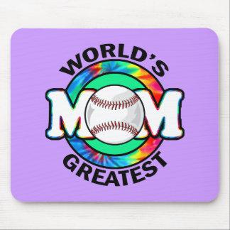 World's Greatest Mom; Softball Mouse Pad