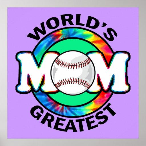 World's Greatest Mom; Softball Poster