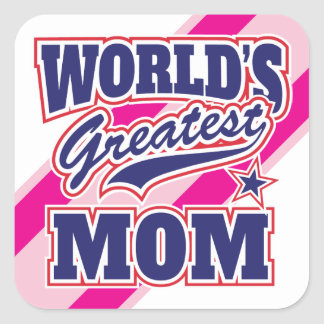 World's Greatest Mom Square Sticker