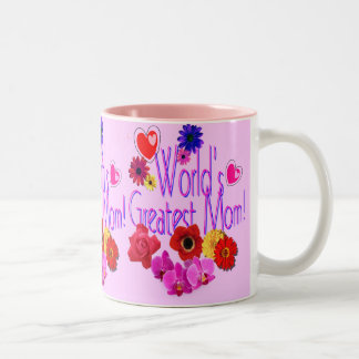 World's Greatest Mom! Two-Tone Coffee Mug