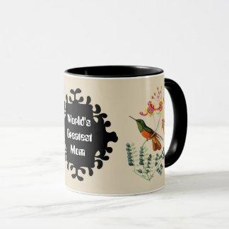 World's Greatest Mom Vintage Humming bird mug